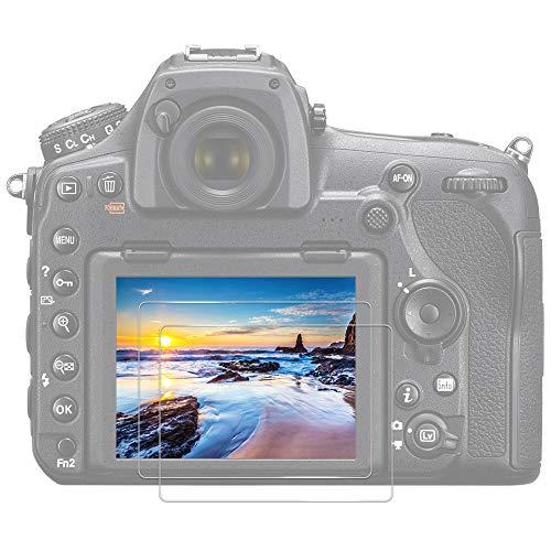 JJC Protector de Pantalla para Cámara Vidrio Temperado para Cámara Nikon D850 [2 Unidades]