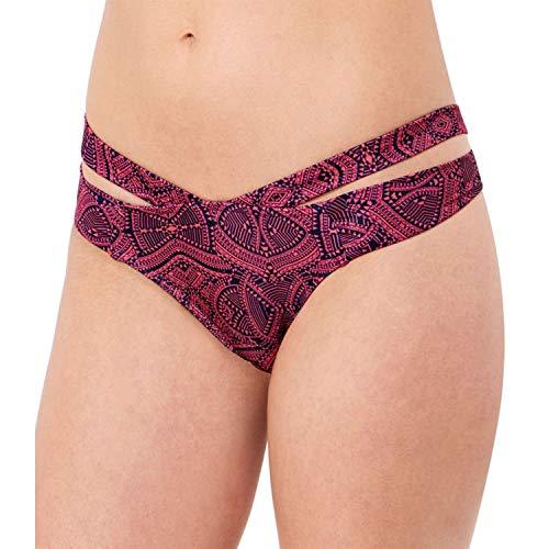Sloggi Swim Damen Hot Summer Hipster Print Bikinihosen Bikini Slips (Dunkelrosa, L)