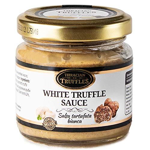 Weißen Trüffel Feinkost White Truffle Gourmet Trüffelcreme, die Delikatesse für Feinschmecker, Sauce für Spargel, Gemüse, Fisch & Fleisch, Geschenk Tartufata, Trüffelsoße weiß im glas (x1)
