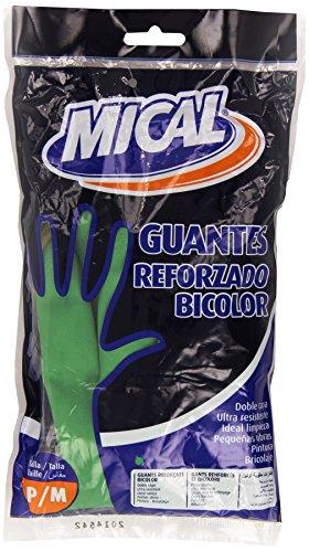 Mical - Guantes reforzado bicolor - 8 grandes, 7 medianos, 6 pequeñas