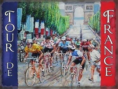 Tour De France con Arco De Triumph y Francés bandera para Cocina ...