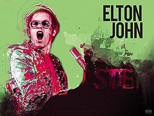 777 Tri-Seven Imprimir Entretenimento Elton John Poster Música Wall Art (24x18)