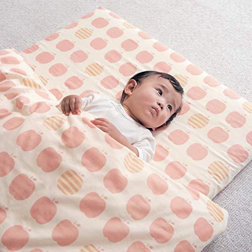 [ベルメゾン] ベビー 布団カバー 綿100% ガーゼ 日本製 リンゴ 掛け布団カバー