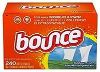 バウンス アウトドアフレッシュ ドライヤーシート 240枚入 乾燥機用柔軟剤シート Bounce Fabric Softener Sheets Outdoor Fresh 240 Count