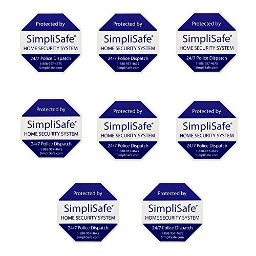 SimpliSafe 8 Home Security Decals Stickers