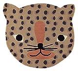 OYOY - Alfombra (80% lana, 20% algodón, 84 x 94 cm), diseño de leopardo