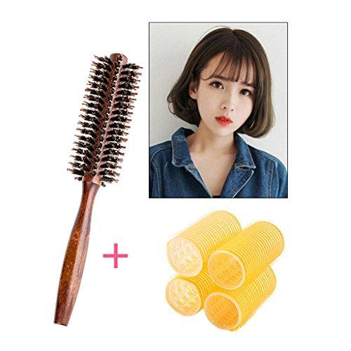 Boucle de dents bouclés de cheveux courtes boucles de cheveux gros rouleaux ne font pas mal les vagues rouleau cheveux outils boucles d'oreille en plastique, 6