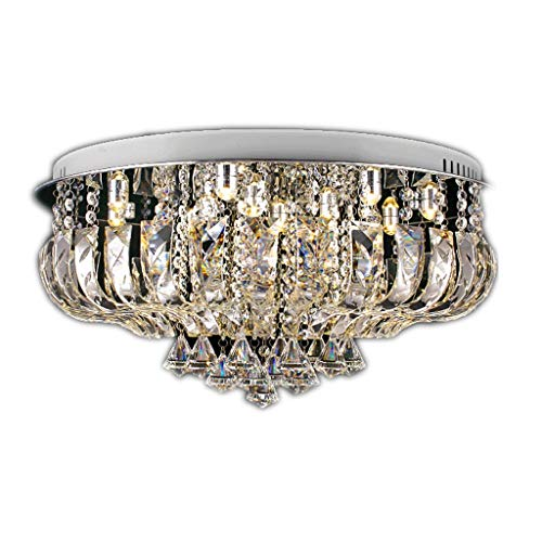 Plafonnier 60cm Lampe de Salon Lampe LED plafonnier Gradation éclairage Chambre Cristal Salle à Manger