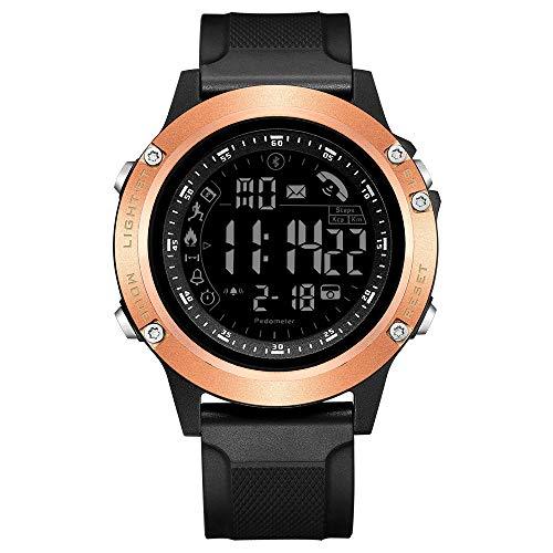 TEZER Digitale Sportuhr,Outdoor Digitaluhr Herren Militär Armbanduhr Bluetooth Smartwatch mit Schrittzähler Kalorienzähler, Fitness Tracker LED wasserdichte Stoppuhr für Android IOS