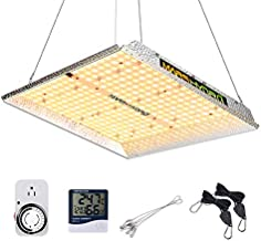 MARS HYDRO TS 1000W Led Grow Light 3x3ft Sunlike Full Spectrum IR Grow Lamps for Indoor Plant Commercial LED Grow Hydroponic Growing Light with Updated 342 LEDs Dimmer Thermometer Hygrometer Timer