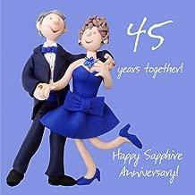 Holy Mackerel 45th Wedding Anniversary Card