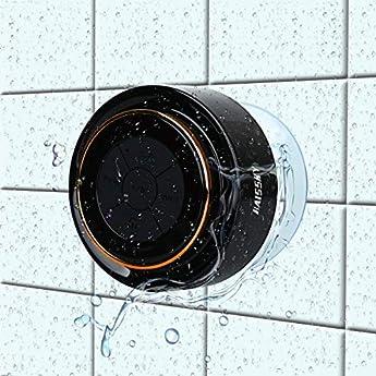 Foto di Bluetooth Cassa Altoparlante Impermeabile da Doccia-Wireless Speaker Waterproof Con Microfono Integrato, Altoparlante bluetooth doccia vivavoce-portatile per Casa/Esterno Compatabile con Smartphones
