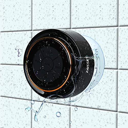 Bluetooth-Duschlautsprecher, Haissky Portable Bluetooth Lautsprecher tragbarer Waterproof Wireless Speaker Wasserdicht mit Radio FM,Saugnapf,Freisprecheinrichtung, inteagriertes Mikrofon