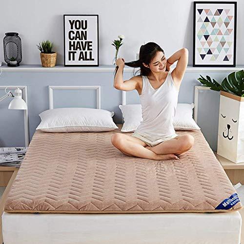 ZXYY matraskussen, dik, tattamio, vloerkussen, Japanse futonmatras, slaapmat, voor studenten, opvouwbaar, oprolbaar, matras F 1
