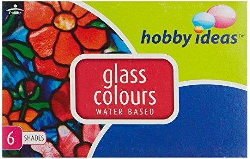 Lote de 6 colores de cristal Fevicryl a base de agua, 75 ml