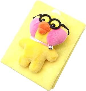 Wgg Plush Photo Album Yellow Duck Toy Doll Album Toy Children Gift, 100 Pockets Hold 5x7 Photos (Duck Wearing Glasses)