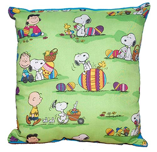 Snoopy Pillow Charlie Brown Peanuts Snoopy Easter Pillow Our Pillows Are All Handmade Hypoallergenic Cotton with Flannel Backing Great For Gift Baskets