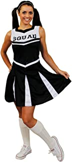 Ladies High School Cheerleader Uniform In Black Womens Cheer Captain Costume (Large)