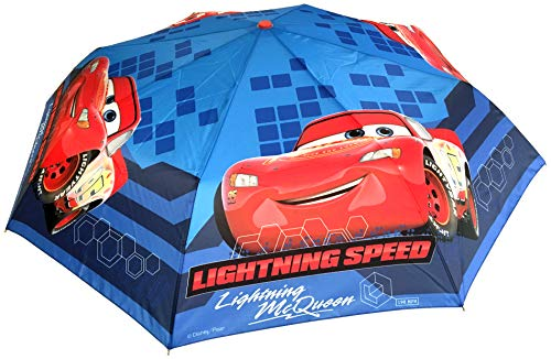 Chanos Chanos Cars 50 cm. Manual Polyester Taslon Folding Umbrella, cm, Blue Regenschirm, Blau (Blue)