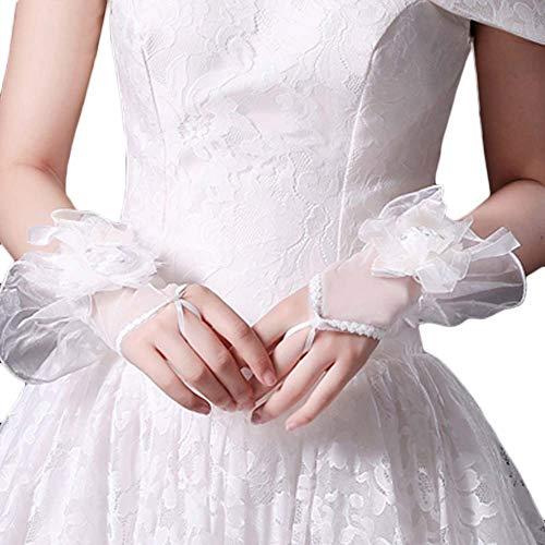 Gants de mariée mariage robes de soirée dentelle gants courts B11