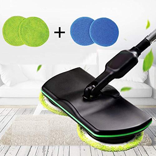 Wxyfl huishoudelijke schoonmaakmop, snoerloze elektrische centrifugemop, oplaadbare power-centrifugemop, handmatige vloerreiniger, wasmachine, polijstmachine, veegmachine, zwart