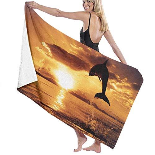 "Yaxinduobao Ocean Sunset Wallpaper Soft Toalla de baño Highly Absorbent Multipurpose Towels Oversized Toalla de Playa for Travel Bathroom Hotel Gym SPA 31""x 51"""