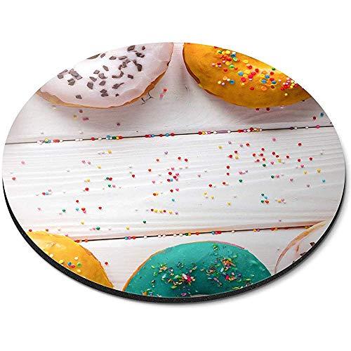 Ronde muismat - kleurrijke donuts snoepjes leuk kantoor cadeau