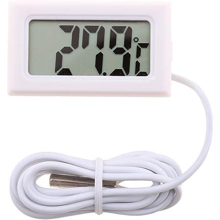 Thermometer Lcd Digital Temperaturanzeige Thermometer Rot 5a Mit Deckel Baumarkt