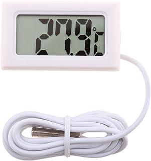 Dolity Digital LCD Termómetro de Agua Digital LCD, Indicador de Temperatura -50 ° C ~ 110 ° C - Blanco