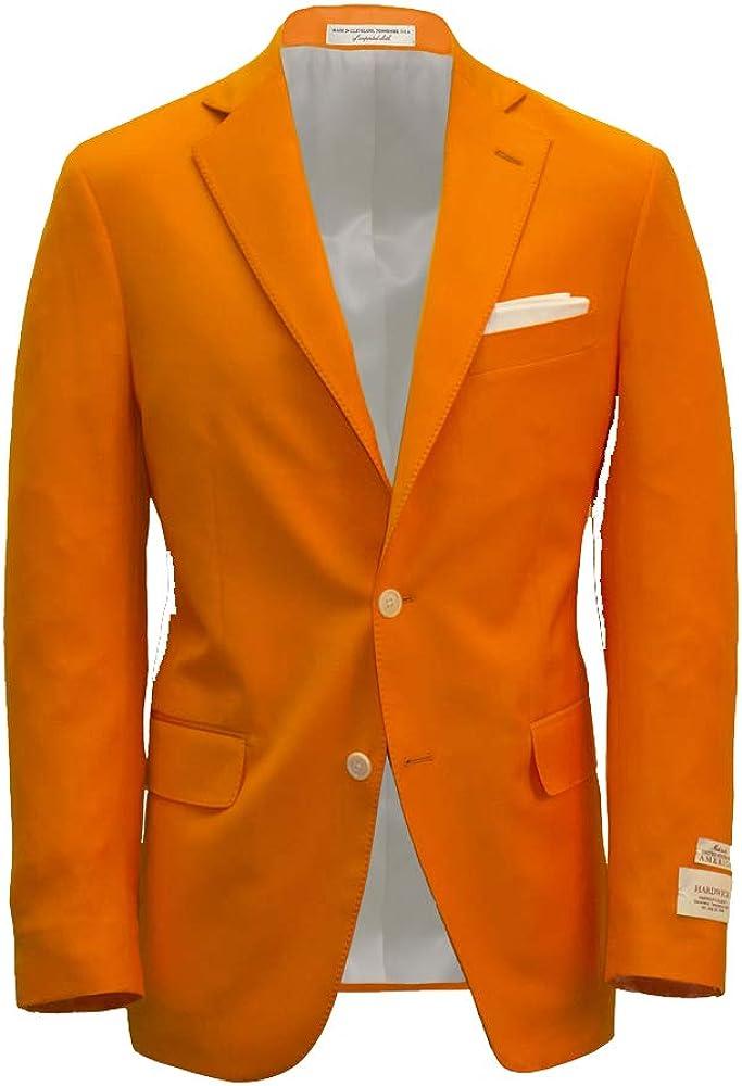 Hardwick Men's Modern Fit Volunteer Orange Wool Blazer