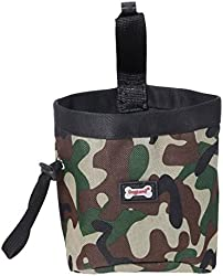 DogLemi@ Dog Treating Pouch For Treating, Poop Bag Dispenser Carriers, Treats & Toys Camouflage Sports Pet Pouch Bag (P30007-GR)