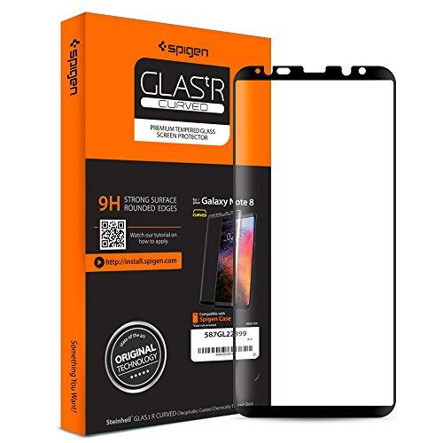 Spigen, Schutzglas Schutzfolie kompatibel mit Samsung Galaxy Note 8 (587GL22399)