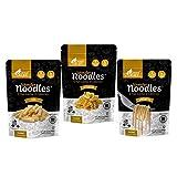 Wonder Noodles - Variety Pack - Carb-Free, Keto Pasta - Gluten-Free, Kosher, Vegan, Zero Calories - ready to eat (Includes 14oz Spaghetti, 14oz Fettuccine, and 14oz Ziti)