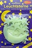 19 Leuchtsterne mit Mond 20 Klebepads Sterne selbstklebend
