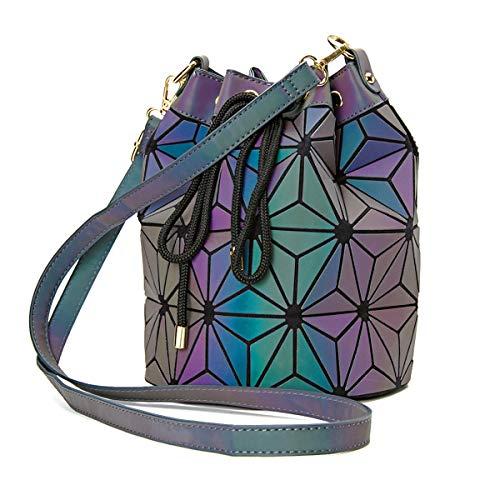 Women GeometricLattice Holographic Handbag Fashion Womens Purse Borsa tipo Tote PortamonWomen GeometricLattice Hoete e tracolla a catena Tutto il tuo vestito per ogni occasione (colorful -5)