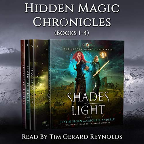 The Hidden Magic Chronicles Boxed Set: Shades of Light, Shades of Dark, Shades of Glory, Shades of Justice                   De :                                                                                                                                 Justin Sloan,                                                                                        Michael Anderle                               Lu par :                                                                                                                                 Tim Gerard Reynolds                      Durée : 25 h et 45 min     Pas de notations     Global 0,0