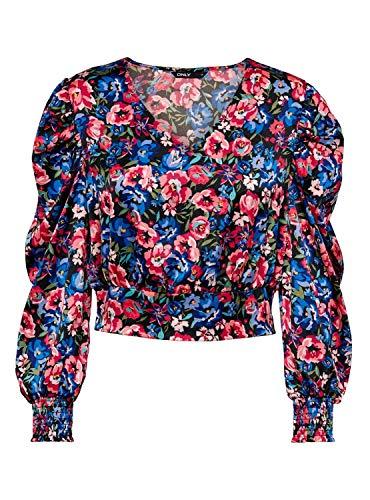 Only Hemd Gina mit Blumen, mehrfarbig, für Damen, Mehrfarbig X-Small