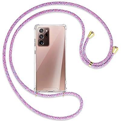 mtb more energy® Collar Smartphone para Samsung Galaxy Note 20 Ultra (SM-N985, 6.9'') - Unicornio Morado/Oro - Adjunto Abajo - Funda Carcasa Anti Shock con Cuerda Correa