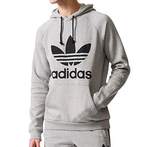 adidas Originals Trefoil Hoodie Sudadera, Color Gris Jaspeado, XXXL para Hombre