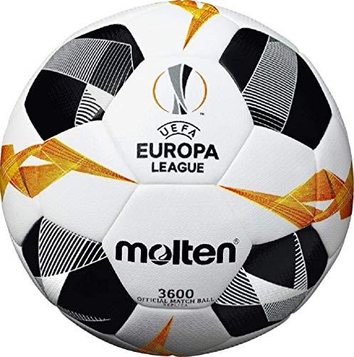 Molten - Pallone da calcio ufficiale UEFA Europa League 3600, bianco/nero/arancione, taglia 5