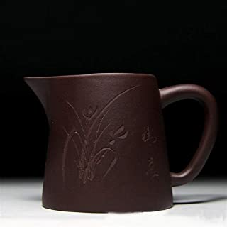 Teapot Yixing Fair Cup Ore Clear Cement Houdezaiwu 260 Ml Four-color Optional Tea Cup TongLingUSL (Color : Black)
