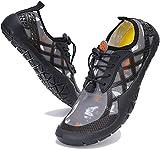 Zapatos Descalzos para Hombre Mujer Zapatillas de Trail Running Secado Rápido Minimalistas Zapatos de Deportes Acuáticos, Unisex-Adulto, 028 Gris, 46 EU