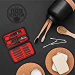 Viking Revolution Manicure Set for Men - Mens Nail Care Kit with Nail Clippers for Professional Grooming - Pedicure and… 7