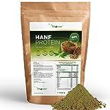 Vit4ever Hanfprotein Pulver - 1100 g / 1,1 kg - 50% Proteingehalt - Laborgeprüfte Premium Qualität - Veganes Eiweißpulver - 100% Hanfproteinpulver - Frei von Gluten, Soja und Laktose