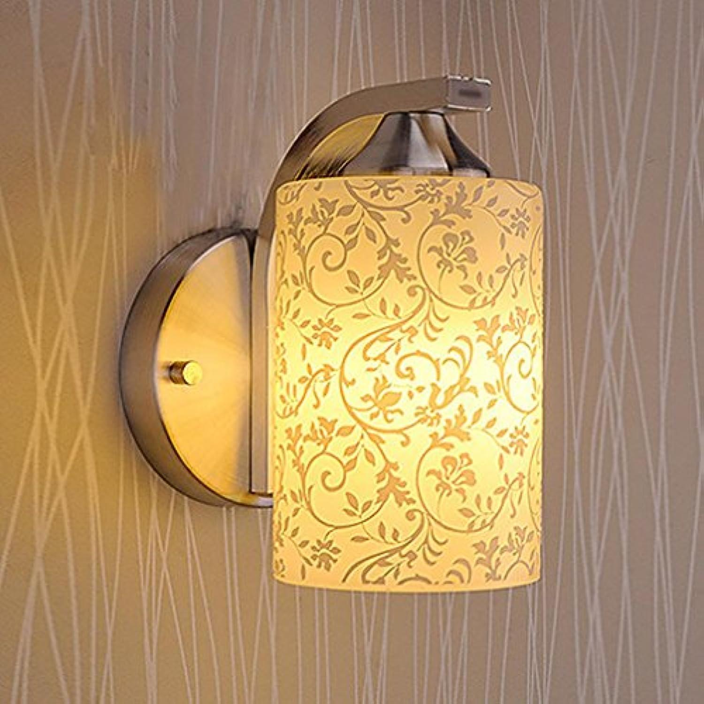 GAOHAILONG Wandleuchte Aluminium + Glas Wohnzimmer Schlafzimmer Beleuchtung Bedside Single Head Double Head