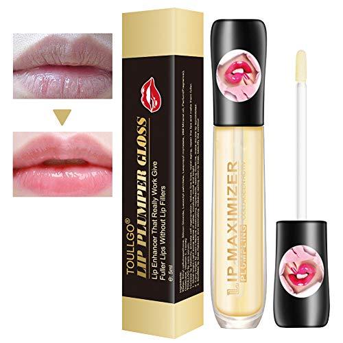 Lip Plumper, Lip Enhancer, Lip Plumper Lip Gloss, Lip Care Serum Which Increase Lip Elasticity, Reduce Fine Lines, Hydrated Sexy Lips