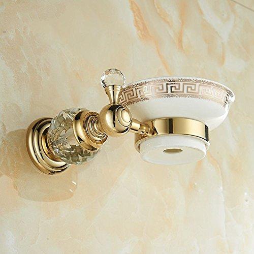 XBR tout le cuivre savon rack, boîte à savon, matériel pendentif, savon de cristal européen de boîte à savon,