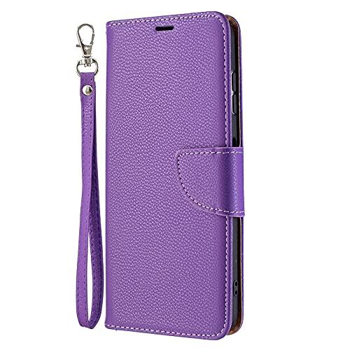 Yiizy Funda para Nokia G20 Carcasa Cuero Ultra Suave Tapa Billetera Piel con Ranura Tarjeta Soporte Cierre Magnético Silicona Suave Protector Carcasa Nokia G20, Morado