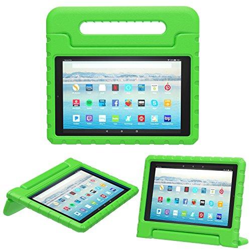 MoKo Hülle für Das Neue Amazon Fire HD 10 Tablet (9. Gen 2019 und 7. Gen 2017 Model), Eva Stoßfest Kinderfre&lich Kinder Schutzhülle Umwandelbar Handgriff Standfunktion für Fire HD 10,1