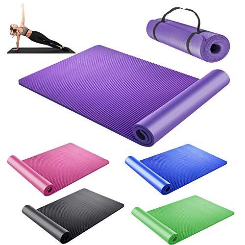 DayPlus Yogamatte rutschfest Gymnastikmatte Extradick 1,5cm...